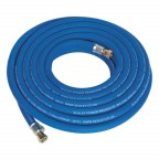 Image for AIR HOSE 10MTR X Ø10MM WITH 1/4inchBSP UNIONS EXTRA H