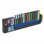 Image for MULTI-COLOURED SOCKET SET 12PC 1/4inchSQ DRIVE DEEP W