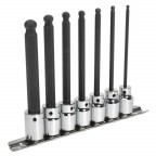 Image for BALL-END HEX SOCKET BIT SET 7PC 3/8inchSQ DRIVE 110MM