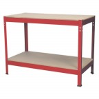 Image for WORKBENCH 1.2MTR STEEL WOODEN TOP