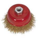 Image for BRASSED STEEL CUP BRUSH Ø75MM M10 X 1.5MM