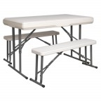 Image for PORTABLE FOLDING TABLE & BENCH SET