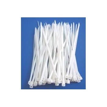 Image for Long White Cable Ties (100)