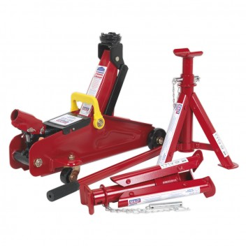 Image for TROLLEY JACK 2TONNE SHORT CHASSIS WITH AXLE STANDS