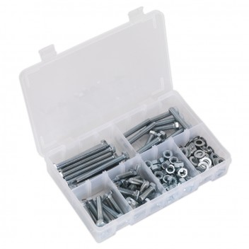 Image for SETSCREW NUT & WASHER ASSORTMENT 220PC HIGH TENSI