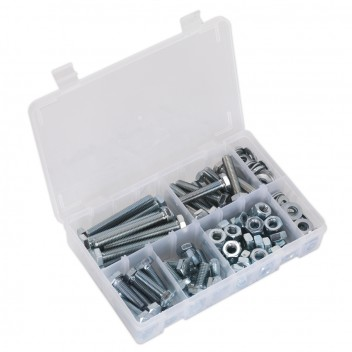 Image for SETSCREW NUT & WASHER ASSORTMENT 150PC HIGH TENSI