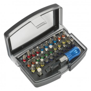 Image for POWER TOOL BIT SET 32PC COLOUR-CODED S2