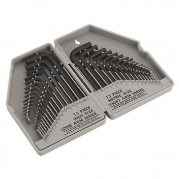 Image for HEX KEY SET 30PC LONG/SHORT ARM - METRIC/IMPERIAL