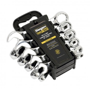 Image for COMBINATION SPANNER SET 10PC STUBBY METRIC